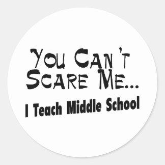 Usted no puede asustarme que enseño a la escuela s pegatina