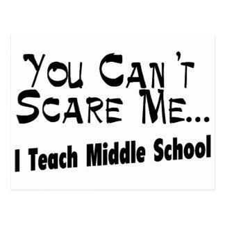 Usted no puede asustarme que enseño a la escuela tarjetas postales