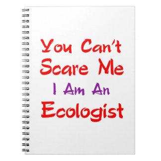 Usted no puede asustarme que soy ecologista libros de apuntes