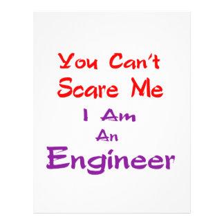 Usted no puede asustarme que soy ingeniero membrete personalizado