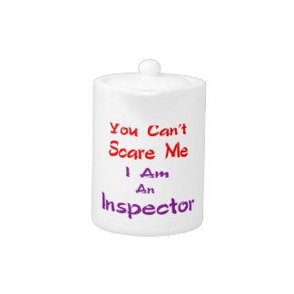 Usted no puede asustarme que soy inspector