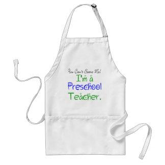 Usted no puede asustarme que soy profesor delantal