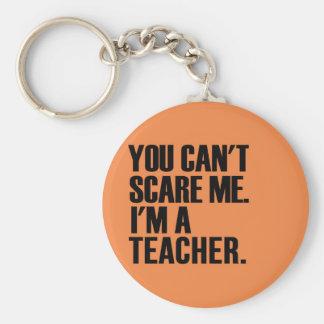 Usted no puede asustarme, yo es profesor llavero redondo tipo pin