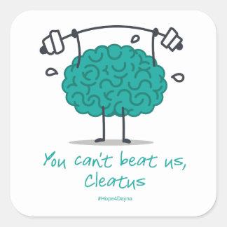 Usted no puede batirnos, Cleatus - pegatina