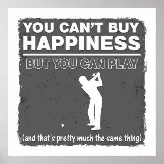 Usted no puede comprar golf del juego de la póster