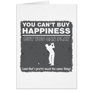 Usted no puede comprar golf del juego de la tarjeta de felicitación