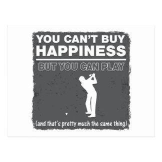Usted no puede comprar golf del juego de la tarjeta postal