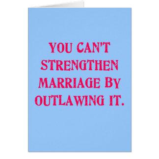 Usted no puede consolidar boda proscribiéndola jun tarjeta de felicitación