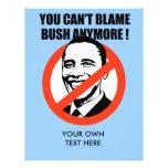 Usted no puede culpar Bush más Tarjetones
