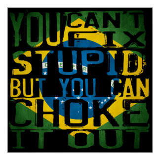 Usted no puede fijar estúpido, sino que usted pued posters
