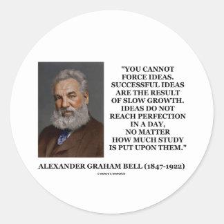 Usted no puede forzar ideas es resultado del pegatina redonda