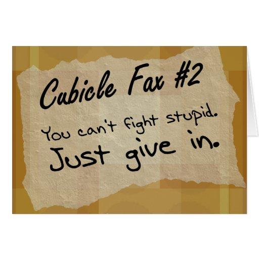 Usted no puede luchar estúpido y el triunfo (2) tarjeta pequeña