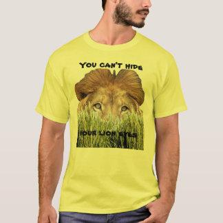 Usted no puede ocultar sus ojos del león playera