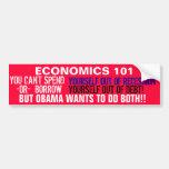Usted no puede PASARSE fuera de la recesión O Pegatina De Parachoque