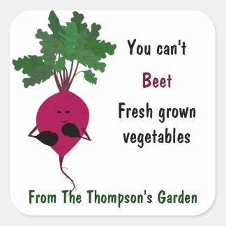 Usted no puede pegatina de las verduras frescas de