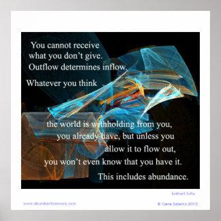 Usted no puede recibir lo que usted no da póster