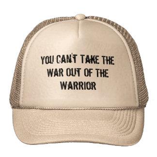 Usted no puede sacar la guerra del guerrero gorros bordados
