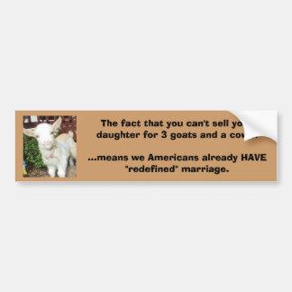 Usted no puede vender a su hija para 3 cabras y un pegatina para auto