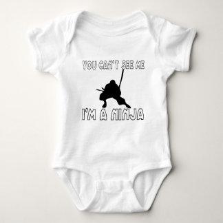 Usted no puede verme body para bebé