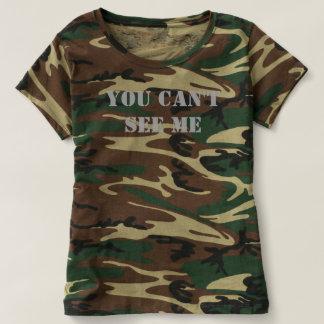 """""""Usted no puede verme"""" la camiseta del camuflaje Playera"""