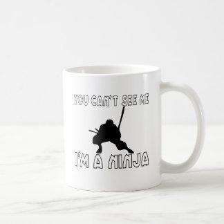 Usted no puede verme taza de café