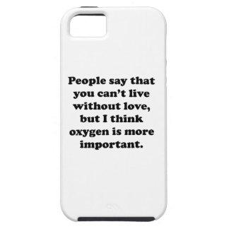 Usted no puede vivir sin oxígeno iPhone 5 protector