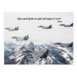 Usted no puede volar como un águila con las alas postal