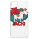 Usted no sabe Jack - la camisa de Russell Terrier iPhone 5 Fundas