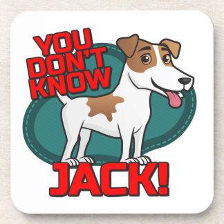 Usted no sabe Jack - la camisa de Russell Terrier Posavasos De Bebidas
