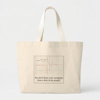 Usted no sabe su asíntota… bolsa tela grande
