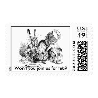 ¿Usted no se unirá a nos para el té? Sellos Postales