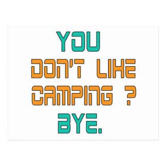 ¿Usted no tiene gusto de acampar? Postal