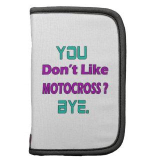 ¿Usted no tiene gusto de motocrós? Organizador