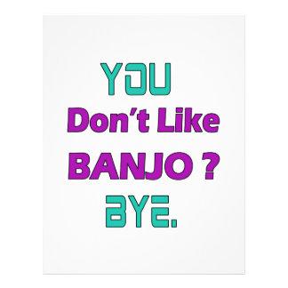 Usted no tiene gusto del banjo membrete