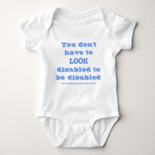 """""""Usted no tiene que MIRAR ..... """"- Onsie lisiado Body Para Bebé"""