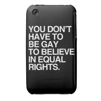 USTED NO TIENE QUE SER GAY CREER EN LA DERECHA iPhone 3 Case-Mate CÁRCASAS