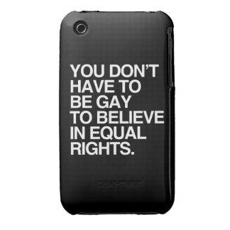 USTED NO TIENE QUE SER GAY CREER EN LA DERECHA Case-Mate iPhone 3 COBERTURAS