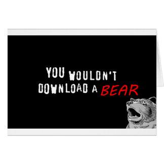 Usted no transferiría un oso - GeekShirts Tarjetas