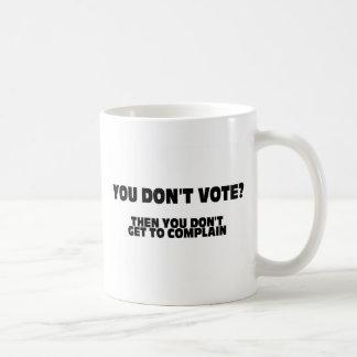¿Usted no vota? Entonces usted no consigue quejars Taza
