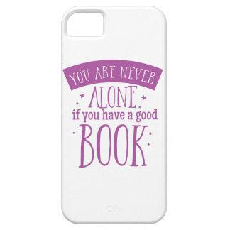 usted nunca es solo si usted tiene un buen libro funda para iPhone SE/5/5s