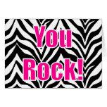 ¡Usted oscila! Estampado de zebra Felicitacion