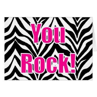 ¡Usted oscila! Estampado de zebra Tarjeta De Felicitación