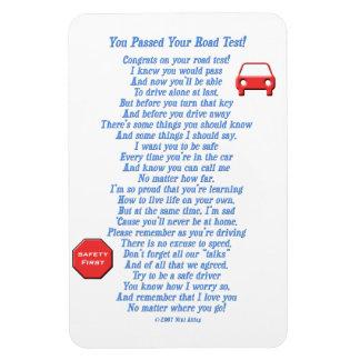 Usted pasó la prueba en carretera - nuevo iman rectangular