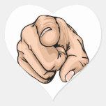 ¡usted!! pegatina de corazón