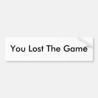 Usted perdió a la pegatina para el parachoques de  pegatina para auto