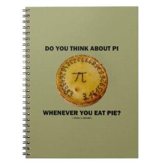 ¿Usted piensa en el pi siempre que usted coma la Notebook