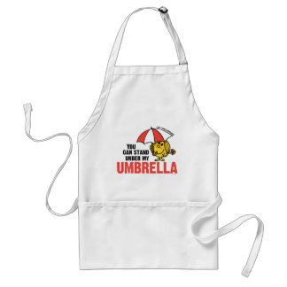 Usted puede colocarse debajo de mi paraguas delantales