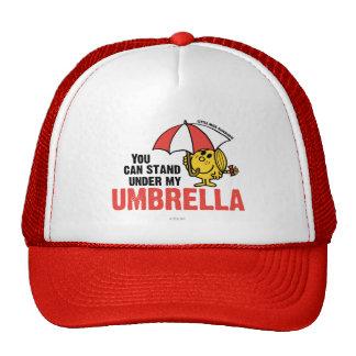 Usted puede colocarse debajo de mi paraguas gorras de camionero