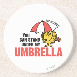 Usted puede colocarse debajo de mi paraguas posavasos diseño