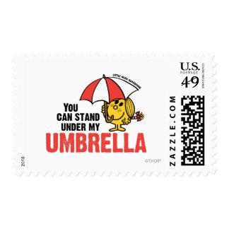 Usted puede colocarse debajo de mi paraguas